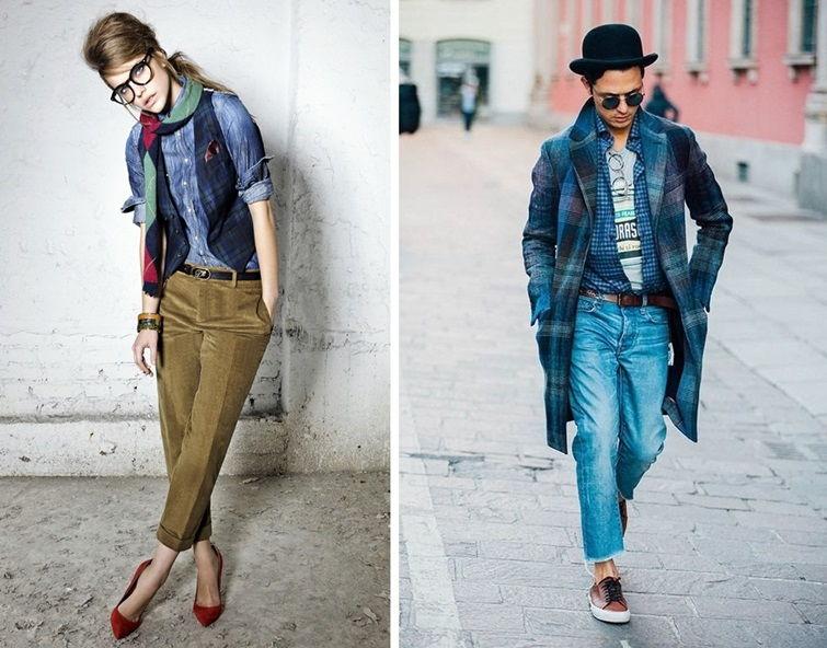 Диффузный стиль в одежде