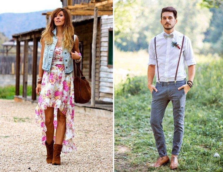 Стиль рустик в одежде