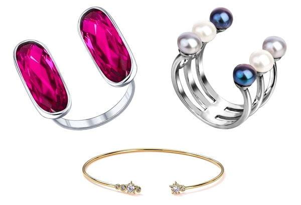 Виды ювелирных колец - разъемные кольца