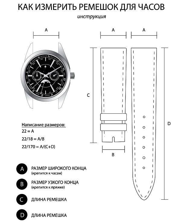 Как измерить ремешок для часов
