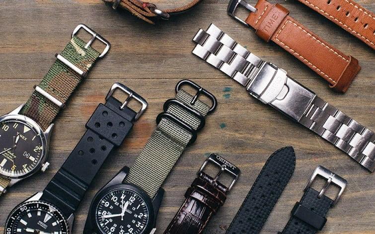 Стилевые виды ремешков и браслетов для наручных часов