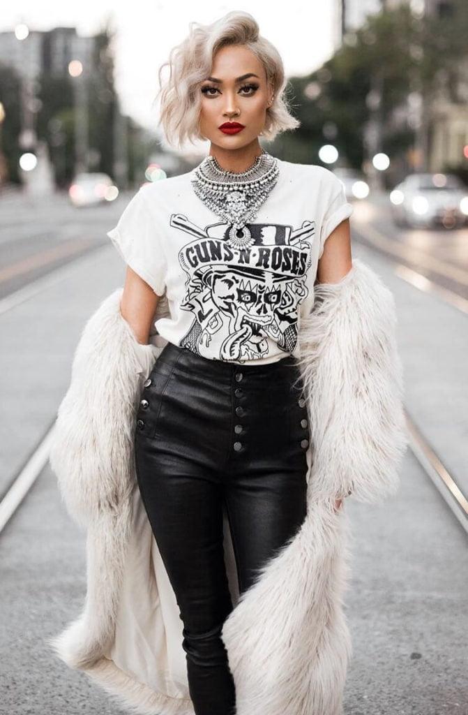 Стиль глэм-рок в одежде: дерзко и элегантно