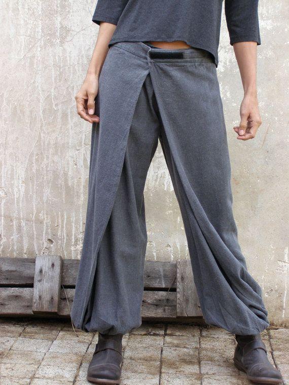Свободные брюки в стиле гаучо