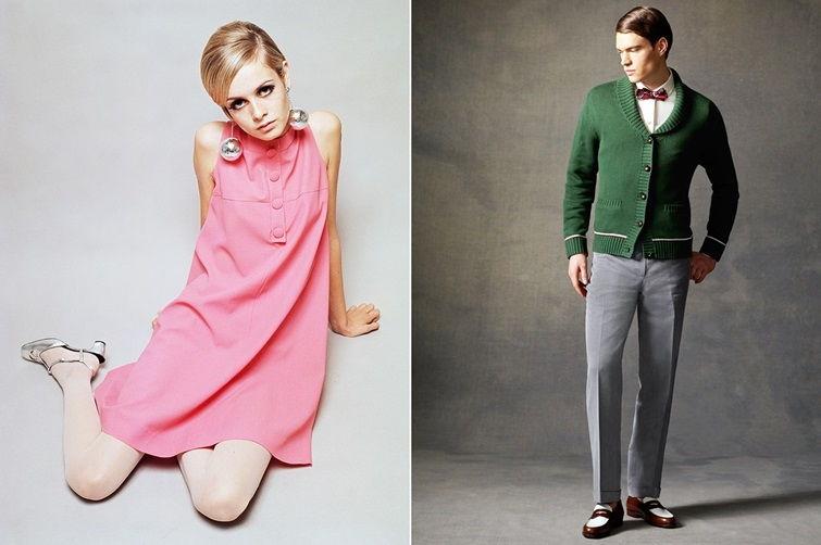 Винтажный стиль одежды 60-х