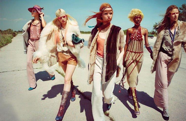 Винтажный стиль в одежде 70-х