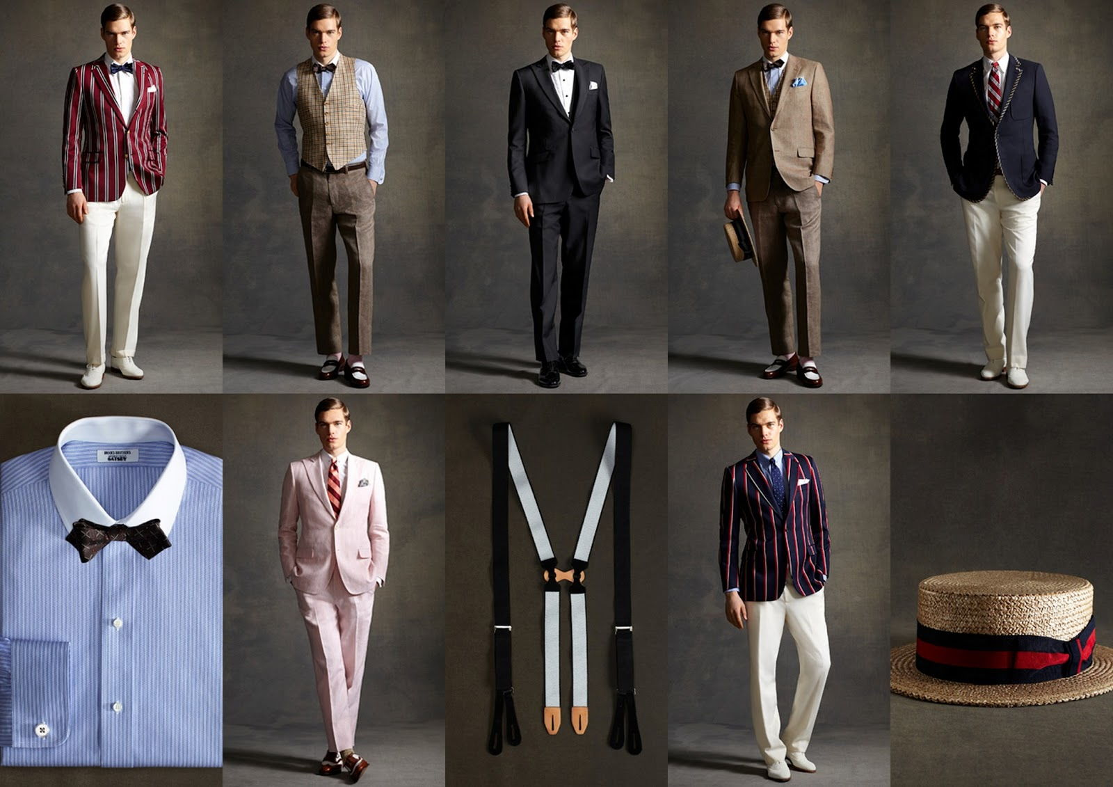 Мужская одежда в стиле арт-деко
