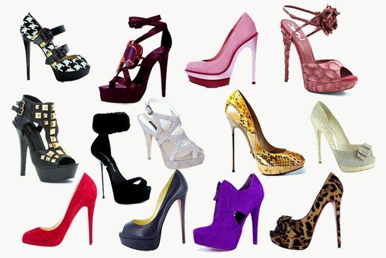 Туфли в гламурном стиле