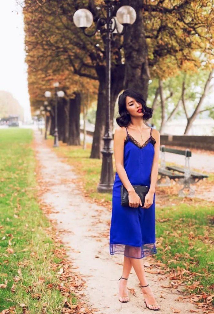 Будуарное платье с туфлями