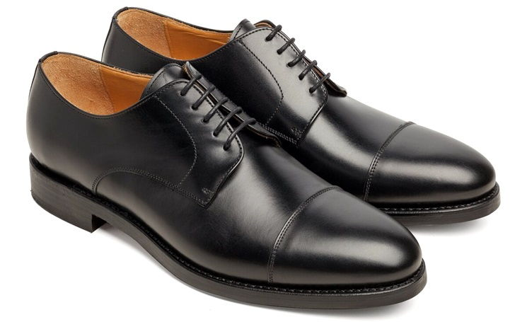 Cap toe derby