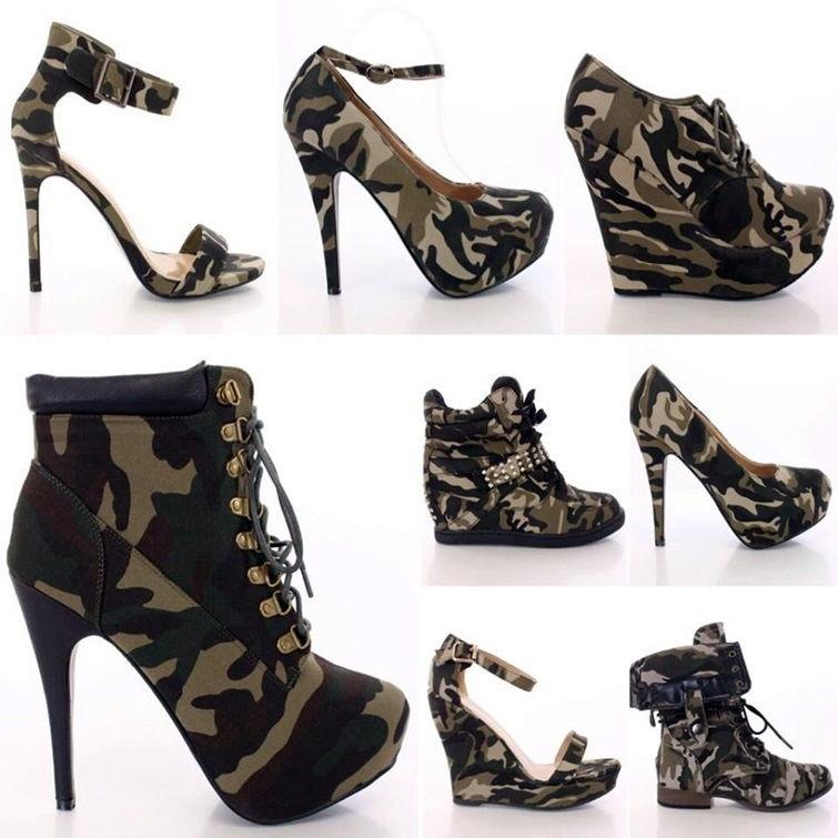 Женская обувь в стиле милитари