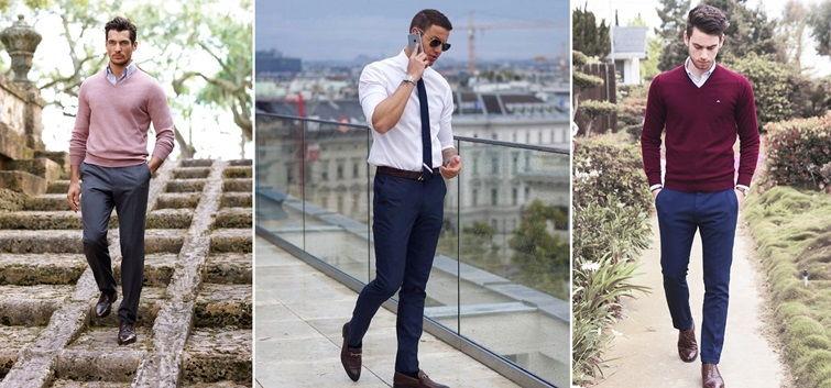 Бизнес-кэжуал в одежде мужчин