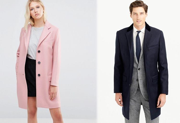 Мужское и женское пальто - Честерфилд