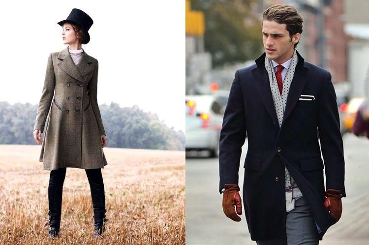 Виды одежды - пальто Редингот