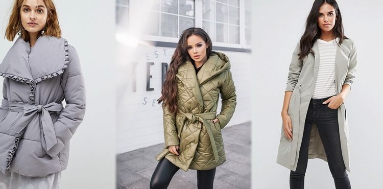 Женская куртка с запахом