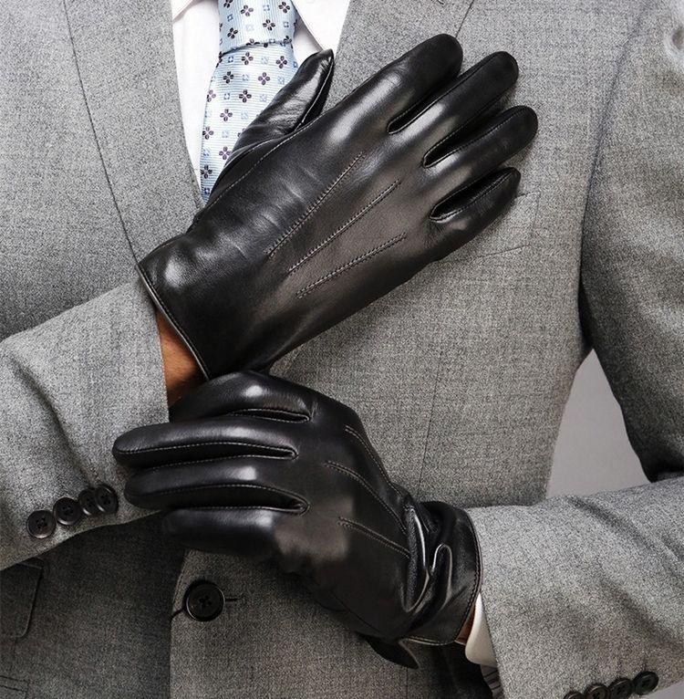 Кожаные перчатки к смокингу