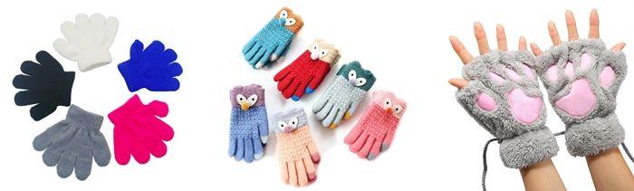 Виды детских перчаток