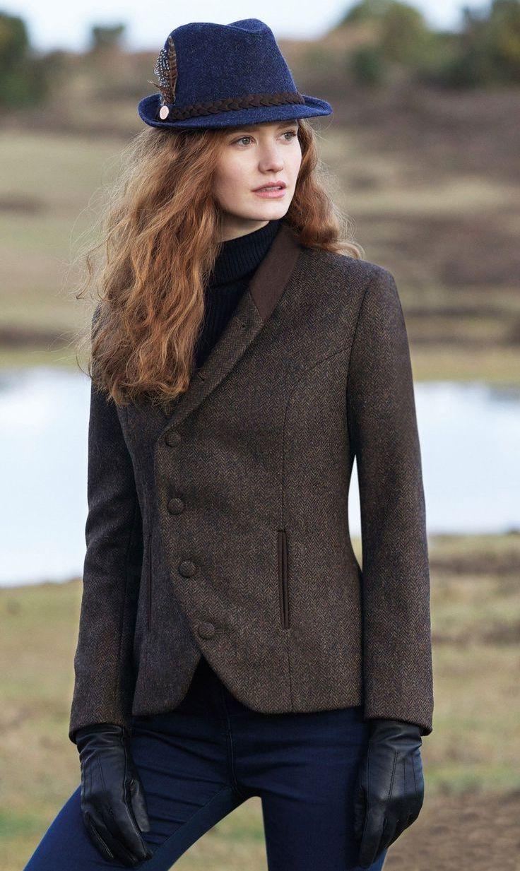 Английский пиджак из твида женский