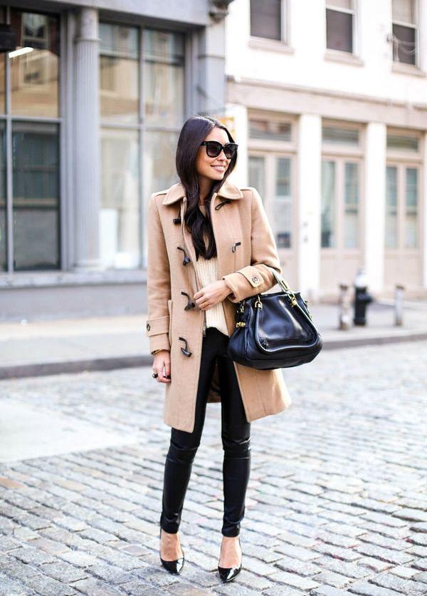 Пальто дафлкот с брюками