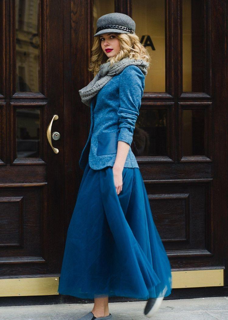 Синий твидовый пиджак женский