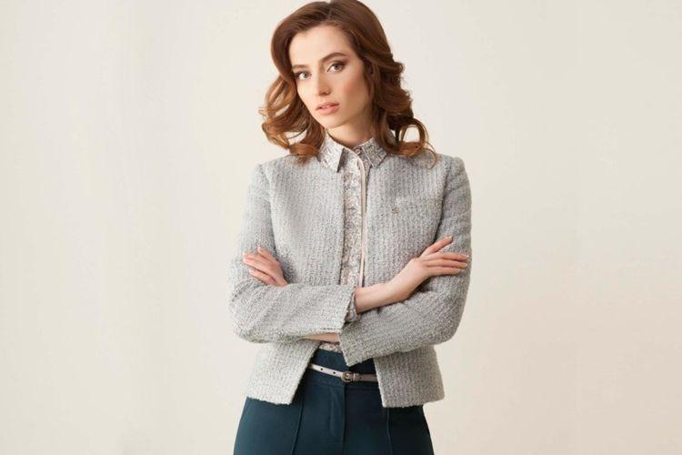 Твидовые пиджаки и пальто на осень