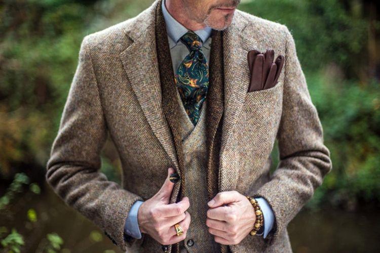 Твидовый пиджак в английском стиле