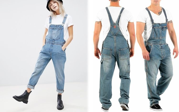 джинсовый комбинезон