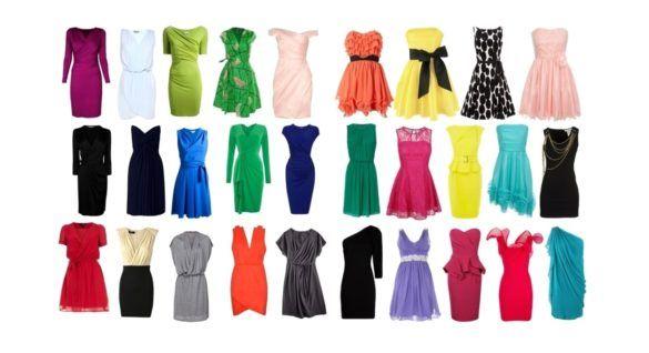 Виды платьев - фото