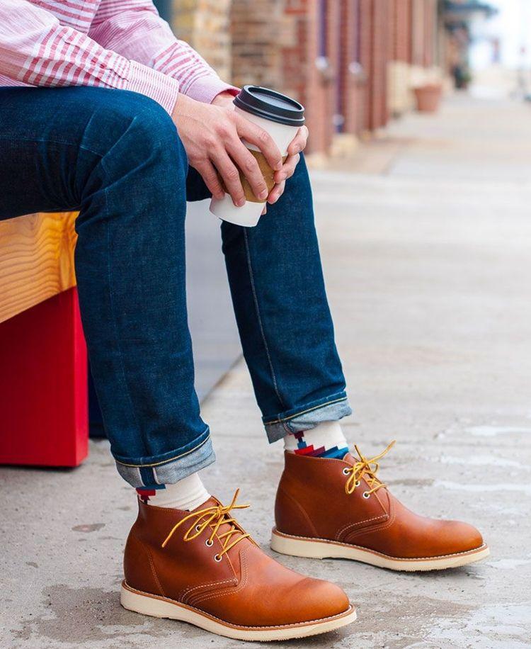 Мужские ботинки чукка - фото