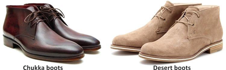 Разница между ботинками чукка и дезертами