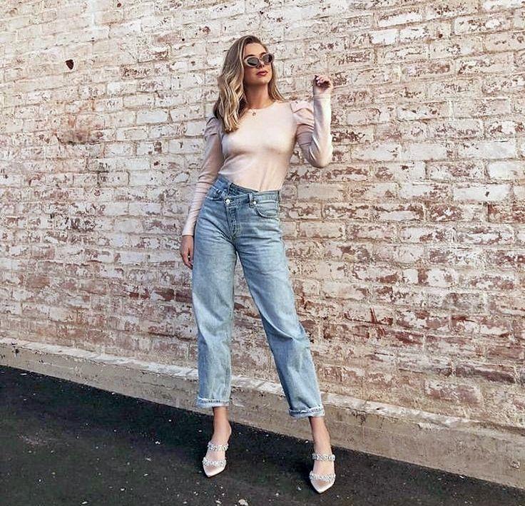Кому подходят джинсы-мом - образы