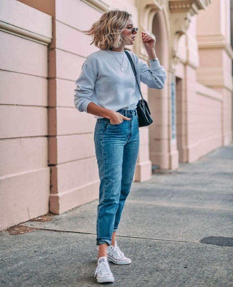 Мом-джинсы для полных - фото