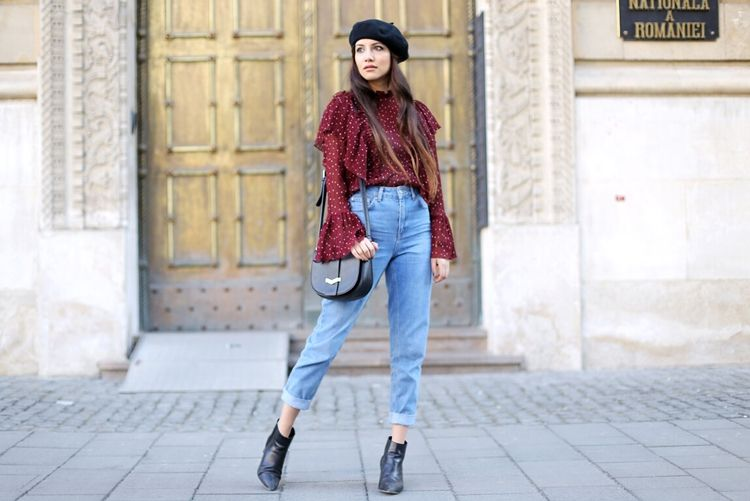 Сочетание челси с джинсами мом - фото