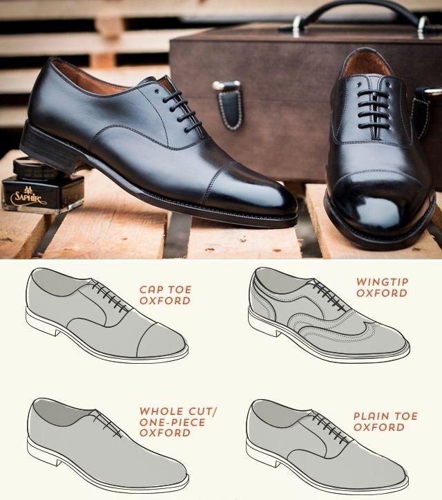 Виды классической мужской обуви - Оксфорды