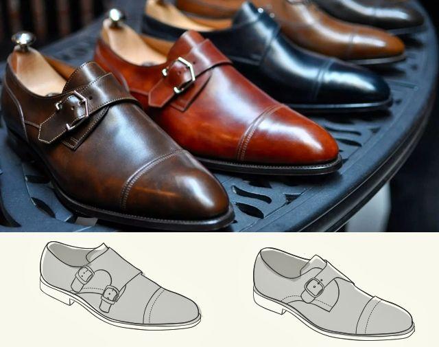 Все виды классической мужской обуви - Монки