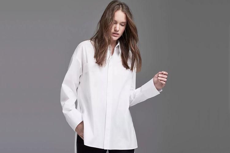 Виды женских рубашек - оверсайз