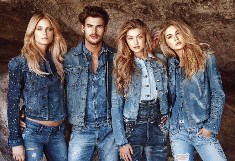 Декор на джинсовой одежде - фото