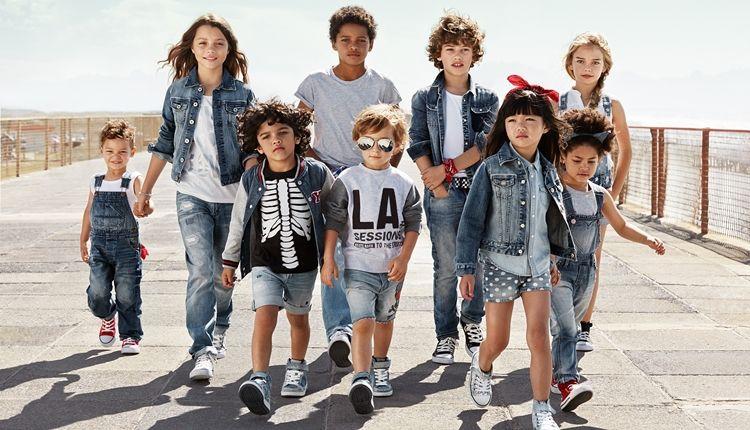 Джинсовый стиль в одежде для детей