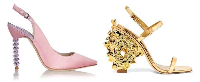 Фигурный каблук женской обуви