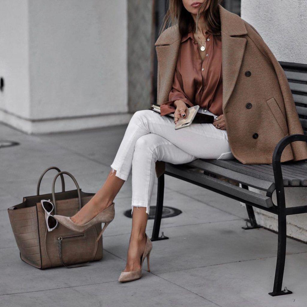 Туфли-лодочки с пальто