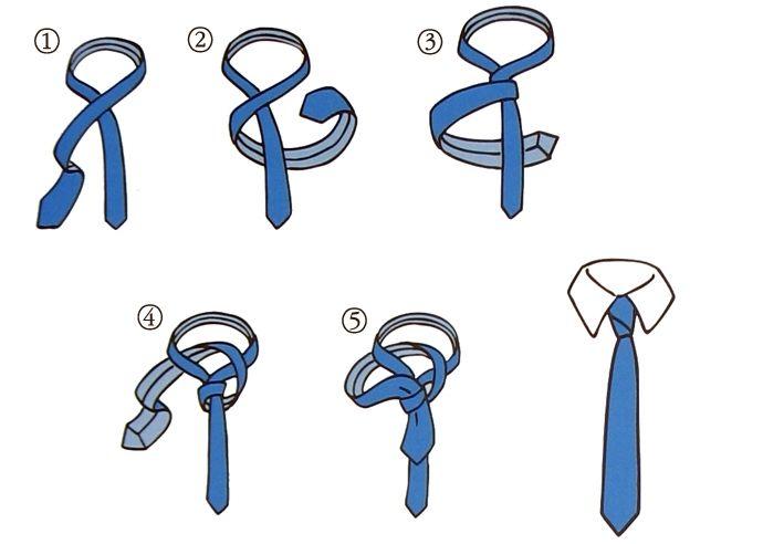 Диагональный узел для галстука
