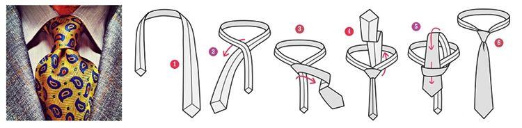 Простой узел для галстука - фото