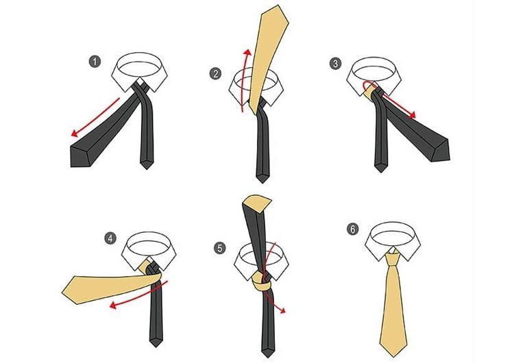 Узел Никки для галстука