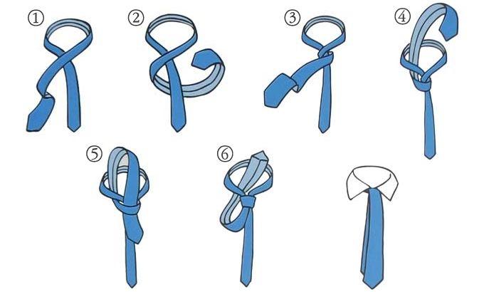 Виды галстуков и галстучных узлов