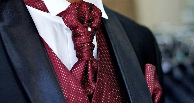 Виды галстуков - пластрон