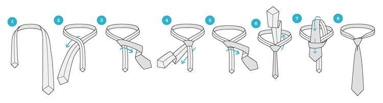 Виды узлов для галстука - схемы