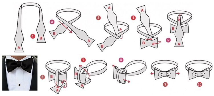 Виды узлов для галстука