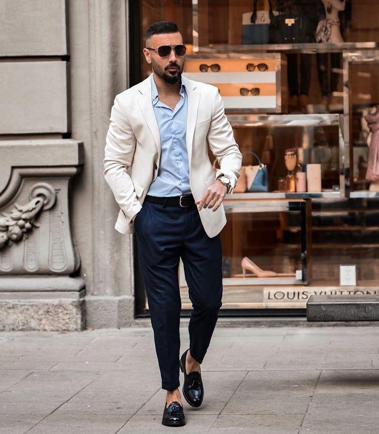 Бизнес образ с чиносами для мужчины