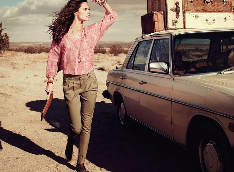 Женские брюки чиносы - фото
